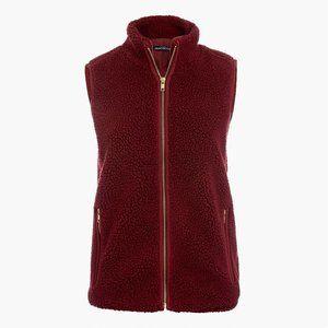 JCrew Burgundy Fleece Vest NWOT